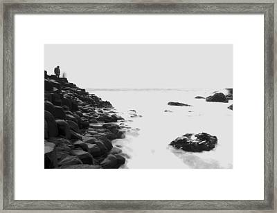 Long Exposure At The Giants Causeway Framed Print by Christopher Kulfan