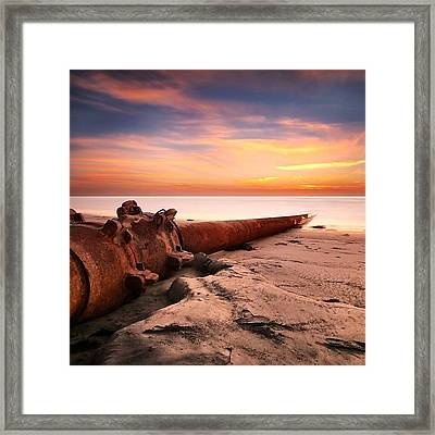 Long Exposure Sunset At Cardiff State Framed Print