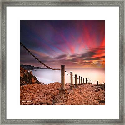 Long Exposure Sunset Shot From The Framed Print