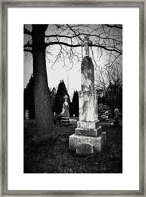 Long Grave Framed Print