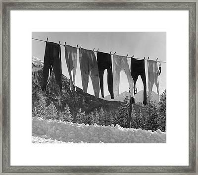 Long Johns Framed Print by Kurt Hutton