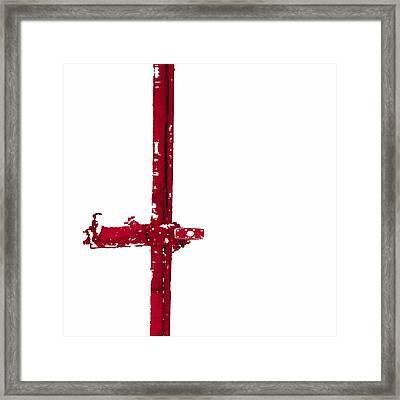 Long Lock In Red Framed Print by J erik Leiff