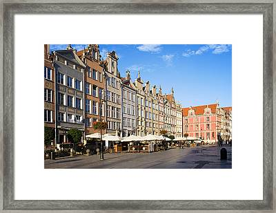 Long Market In Gdansk Framed Print by Artur Bogacki