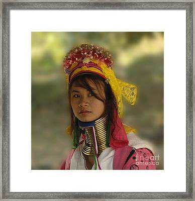 Long Neck Beauty Karen Tribe Framed Print by Bob Christopher