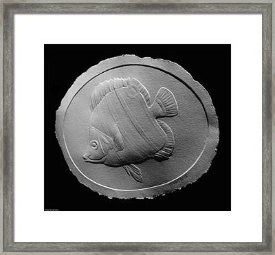 Long Nose Butterfly Fish Framed Print by Suhas Tavkar