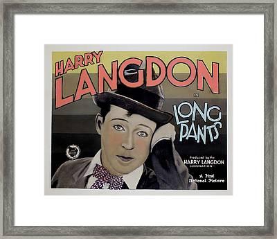 Long Pants, Harry Langdon, 1927 Framed Print by Everett