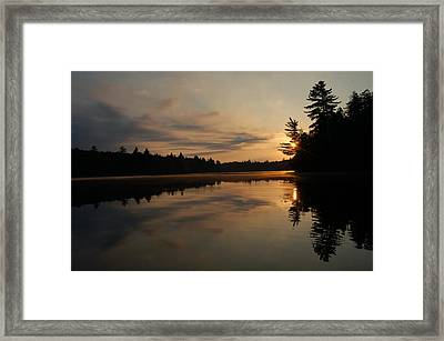 Long Pond Sunset Framed Print