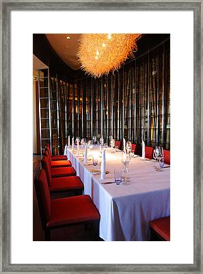 Long Table Framed Print by Atiketta Sangasaeng