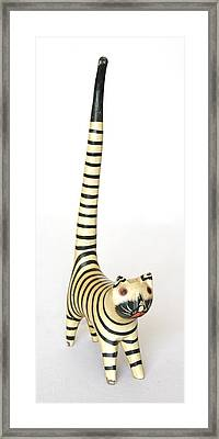 Long Tailed Feline Framed Print