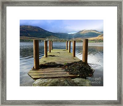 Framed Print featuring the photograph Long Walk Off A Short Pier by Lynn Bolt
