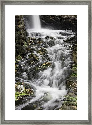 Framed Print featuring the photograph Longfellow Grist Mill Waterfall by Betty Denise