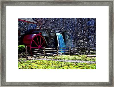 Longfellow's Wayside Gristmill Painting 2 Framed Print by Earl Jackson