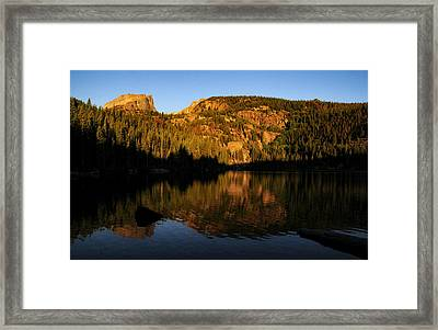 Longs And Halleck Peaks Framed Print