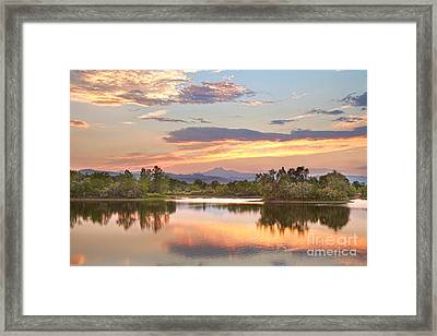 Longs Peak Evening Sunset View Framed Print by James BO  Insogna