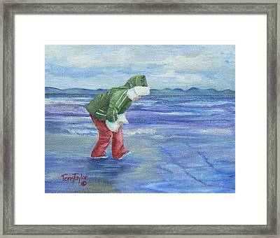 Framed Print featuring the painting Look At The Reflections by Terry Taylor