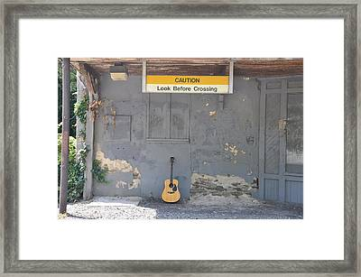 Look Before Crossing Framed Print by Bill Cannon