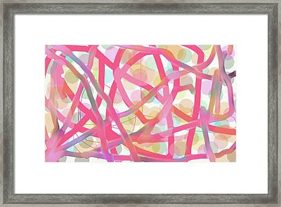 Look For The Hearts Framed Print