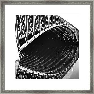 Look Here! #eye #bridge #lines Framed Print