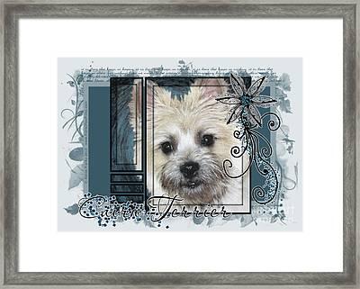 Look In Her Eyes - Cairn Terrier Framed Print by Renae Laughner