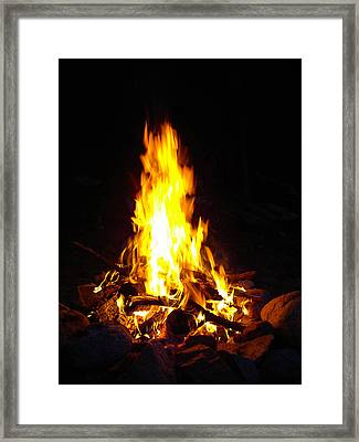 Look Into The Fire Framed Print