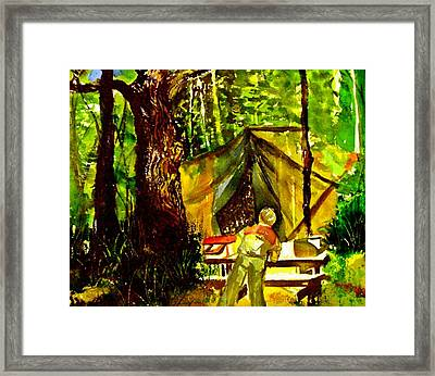 Look Out Rock Tennessee Framed Print by Mindy Newman