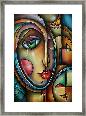 Look Two Framed Print by Michael Lang