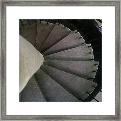 #lookdown #teamlookdown #stairs Framed Print