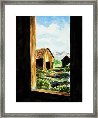 Lookin Out Framed Print
