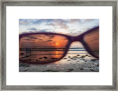 Looking At Life Through Rose Colored Glasses Framed Print