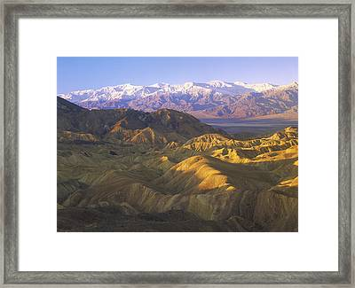 Looking At Panamint Range Framed Print by Tim Fitzharris