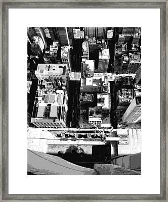 Looking Down Bw8 Framed Print by Scott Kelley