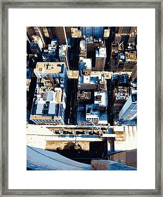 Looking Down Color 16 Framed Print by Scott Kelley