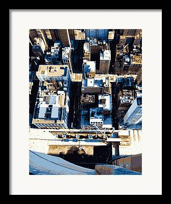 Looking Down In The Big Apple Framed Prints