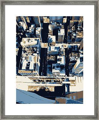 Looking Down Color 6 Framed Print by Scott Kelley