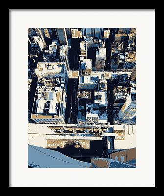 Looking Down In Nycthe Big Apple Framed Prints