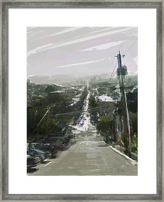 Looking Down Dolores Framed Print by Russell Pierce