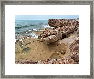 Looking Down From Above Blowing Rocks Preserve Framed Print by Michelle Wiarda