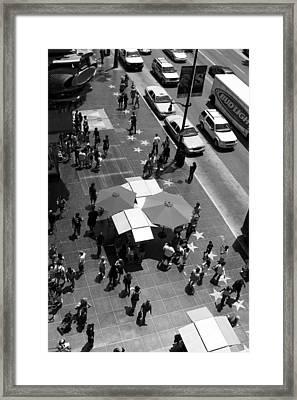 Looking Down On Stars Framed Print by Ricky Barnard