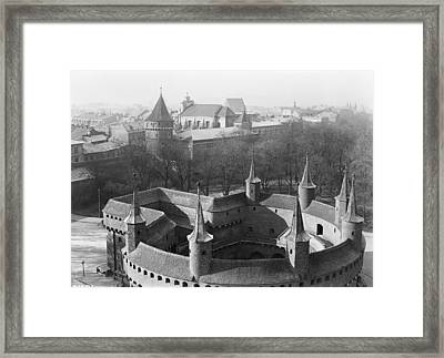 Looking Down On The Rondel Or Barbican Framed Print by W. Robert Moore