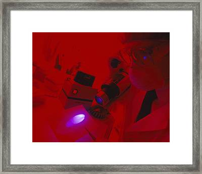 Looking For Biological Stains Framed Print by Mauro Fermariello