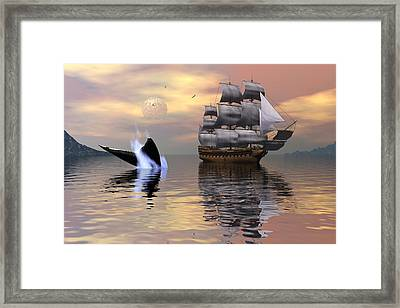 Looking For Moby Dick Framed Print by Claude McCoy
