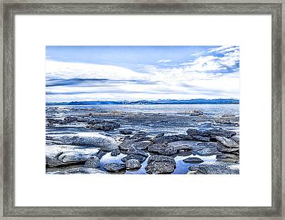 Looking From Hornby Is, Bc Framed Print by Shari Whittaker