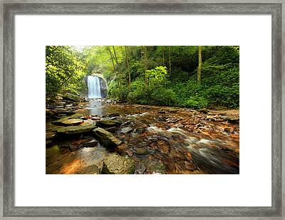 Framed Print featuring the photograph Looking Glass Falls by Doug McPherson
