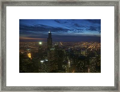 Looking Out At An Azure Sky Framed Print