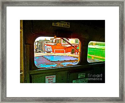 Looking Out The Engine Cab Framed Print