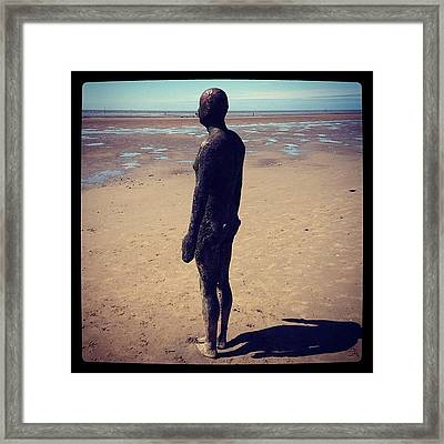 Looking Out To Sea, But What Can He Framed Print