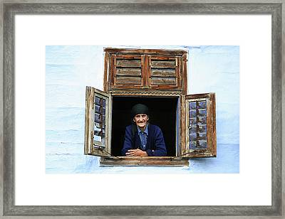 Looking Outside Framed Print