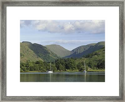 Looking South Across Lake Ullswater From Glenridding, Lake District, Cumbria, England Framed Print by Keith Wood