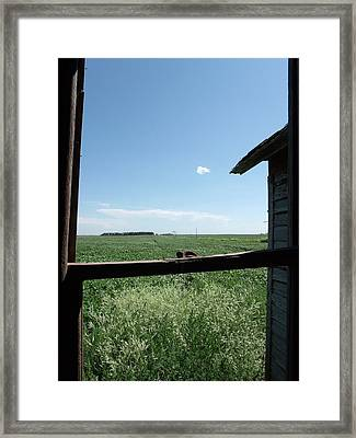 Looking Through Time Framed Print