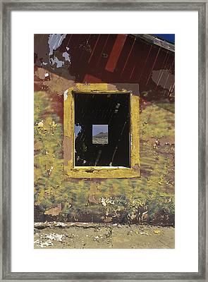 Looking Thru Peeling Paint Framed Print by Joe  Palermo